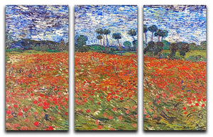 Van Gogh Poppies Field 3 Split Panel Canvas Print - Canvas Art Rocks - 1