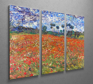 Van Gogh Poppies Field 3 Split Panel Canvas Print - Canvas Art Rocks - 2