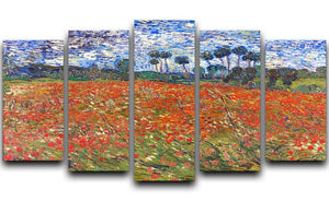 Van Gogh Poppies Field 5 Split Panel Canvas  - Canvas Art Rocks - 1