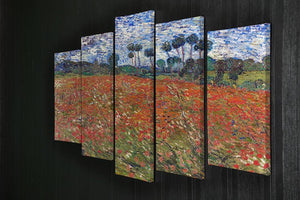Van Gogh Poppies Field 5 Split Panel Canvas - Canvas Art Rocks - 2