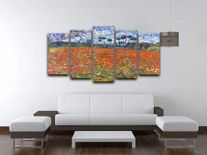 Van Gogh Poppies Field 5 Split Panel Canvas - Canvas Art Rocks - 3
