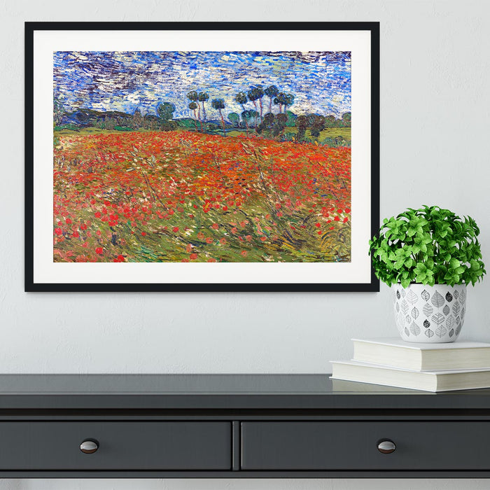 Van Gogh Poppies Field Framed Print