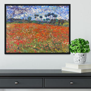 Van Gogh Poppies Field Framed Print - Canvas Art Rocks - 2