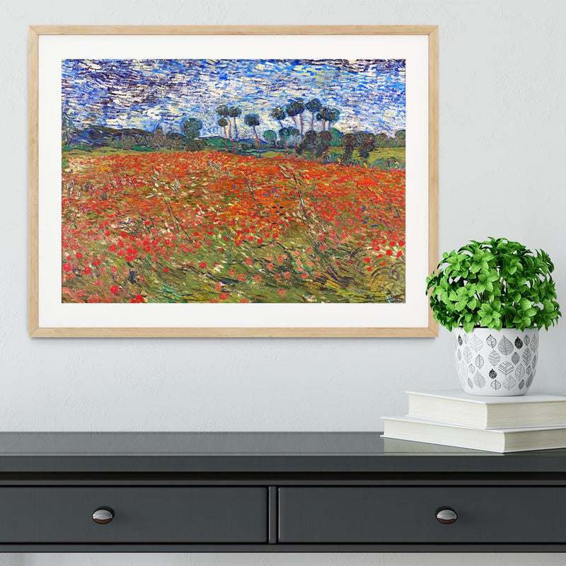 Van Gogh Poppies Field Framed Print - Canvas Art Rocks - 3