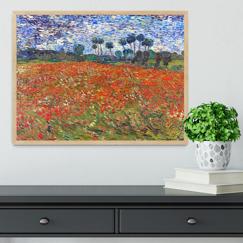 Van Gogh Poppies Field Framed Print - Canvas Art Rocks - 4