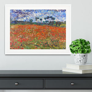 Van Gogh Poppies Field Framed Print - Canvas Art Rocks - 5