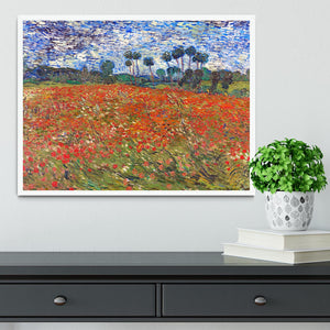 Van Gogh Poppies Field Framed Print - Canvas Art Rocks -6