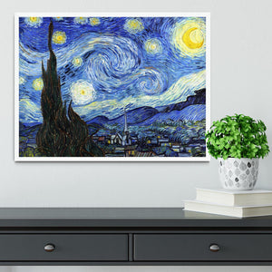 Van Gogh Starry Night Framed Print - Canvas Art Rocks -6