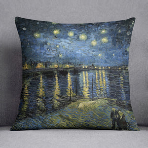 Van Gogh Starry Night over the Rhone Cushion