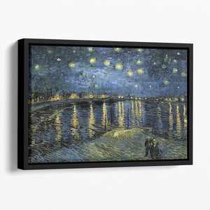 Van Gogh Starry Night over the Rhone Floating Framed Canvas