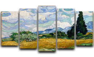 Van Gogh Wheat Field with Cypresses 5 Split Panel Canvas  - Canvas Art Rocks - 1