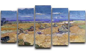 Van Gogh Wheat Fields with Reaper at Auvers 5 Split Panel Canvas  - Canvas Art Rocks - 1