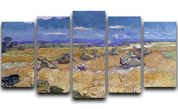 Van Gogh Wheat Fields with Reaper at Auvers 5 Split Panel Canvas