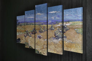 Van Gogh Wheat Fields with Reaper at Auvers 5 Split Panel Canvas - Canvas Art Rocks - 2