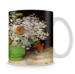 Vase with Zinnias and Other Flowers by Van Gogh Mug - Canvas Art Rocks - 4