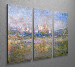 Vctheuil in the fog by Monet Split Panel Canvas Print - Canvas Art Rocks - 4