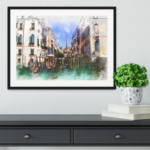 Venice Painting Framed Print - Canvas Art Rocks - 1