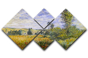 Vethueil by monet 4 Square Multi Panel Canvas  - Canvas Art Rocks - 1