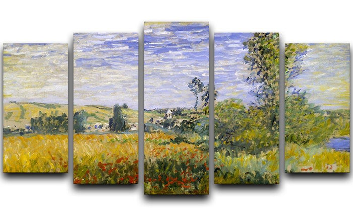 Vethueil by monet 5 Split Panel Canvas