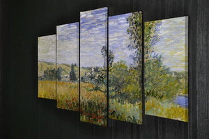 Vethueil by monet 5 Split Panel Canvas - Canvas Art Rocks - 2
