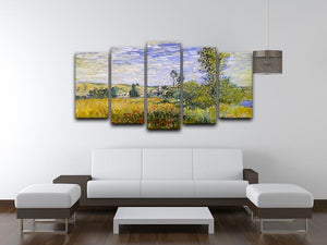 Vethueil by monet 5 Split Panel Canvas - Canvas Art Rocks - 3