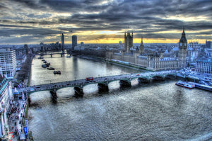View from London Eye Wall Mural Wallpaper - Canvas Art Rocks - 1