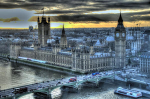 View from London Eye featuring Big Ben Wall Mural Wallpaper - Canvas Art Rocks - 1