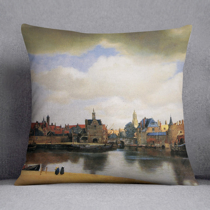 View of Delft by Vermeer Cushion