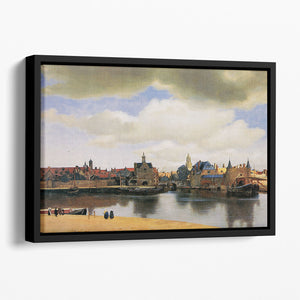View of Delft by Vermeer Floating Framed Canvas