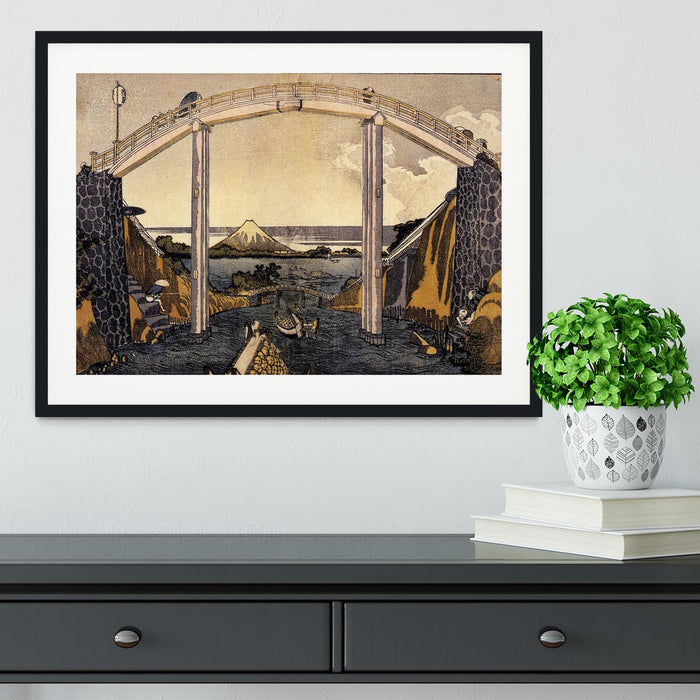 View of Mount Fuji by Hokusai Framed Print