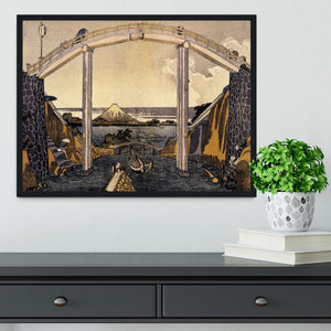View of Mount Fuji by Hokusai Framed Print - Canvas Art Rocks - 2