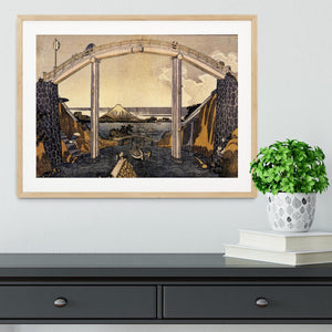 View of Mount Fuji by Hokusai Framed Print - Canvas Art Rocks - 3