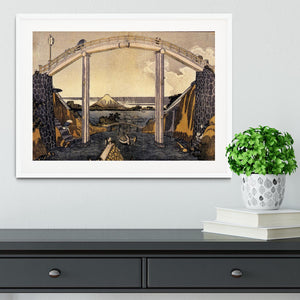 View of Mount Fuji by Hokusai Framed Print - Canvas Art Rocks - 5