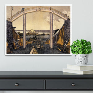 View of Mount Fuji by Hokusai Framed Print - Canvas Art Rocks -6