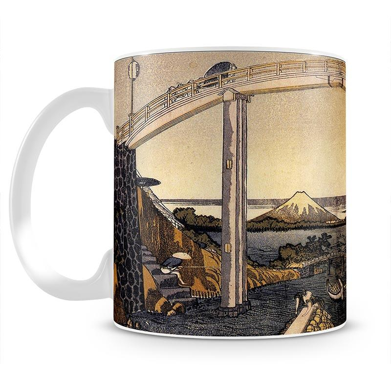 View of Mount Fuji by Hokusai Mug - Canvas Art Rocks - 2
