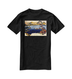 View of lake Suwa by Hokusai T-Shirt - Canvas Art Rocks - 1