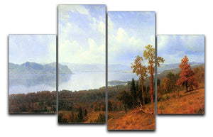 View of the Hudson River Vally by Bierstadt 4 Split Panel Canvas - Canvas Art Rocks - 1