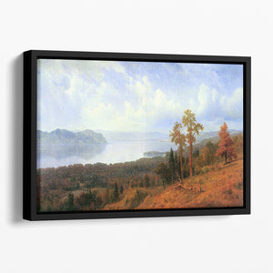 View of the Hudson River Vally by Bierstadt Floating Framed Canvas - Canvas Art Rocks - 1