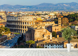 View on Colosseum in Rome Wall Mural Wallpaper - Canvas Art Rocks - 4