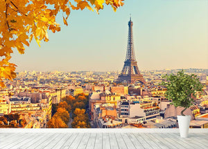 View on Eiffel tower at sunset Wall Mural Wallpaper - Canvas Art Rocks - 4