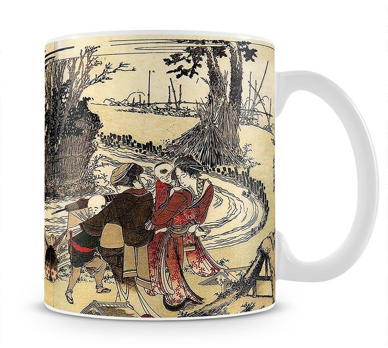 Village near a bridge by Hokusai Mug - Canvas Art Rocks - 1