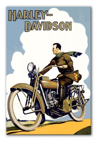 Vintage Harley Davidson Print - They'll Love Wall Art - 1