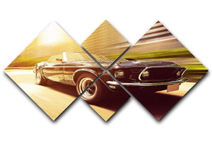 Vintage Car 4 Square Multi Panel Canvas  - Canvas Art Rocks - 1