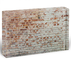 Vintage dirty brick wall Acrylic Block - Canvas Art Rocks - 1