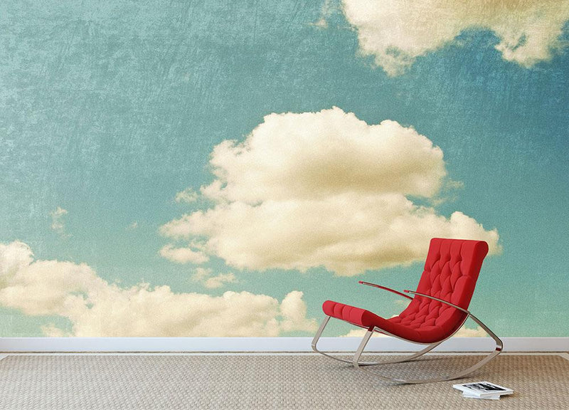 Vintage sky Wall Mural Wallpaper - Canvas Art Rocks - 1