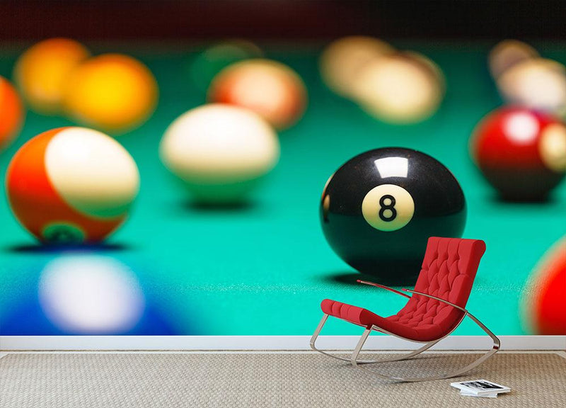 Vintage style photo of billiard balls Wall Mural Wallpaper - Canvas Art Rocks - 1