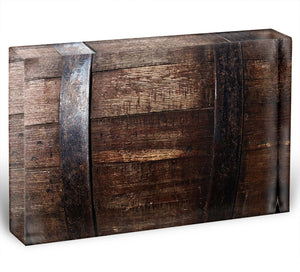 Vintage texture of oak barrel Acrylic Block - Canvas Art Rocks - 1