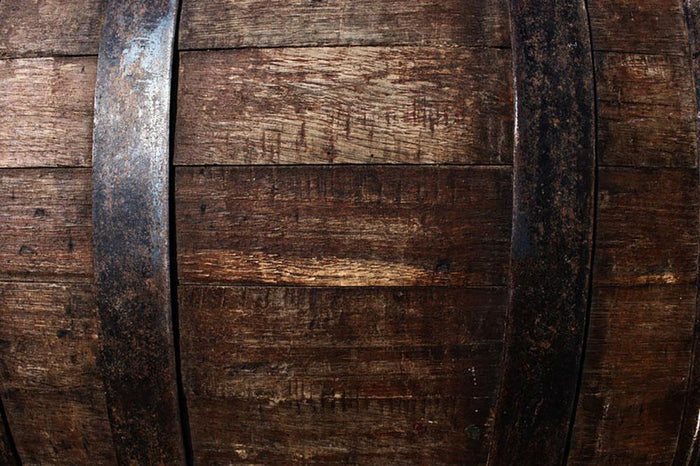 Vintage texture of oak barrel Wall Mural Wallpaper