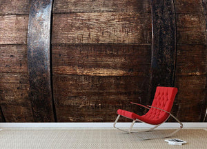 Vintage texture of oak barrel Wall Mural Wallpaper - Canvas Art Rocks - 2