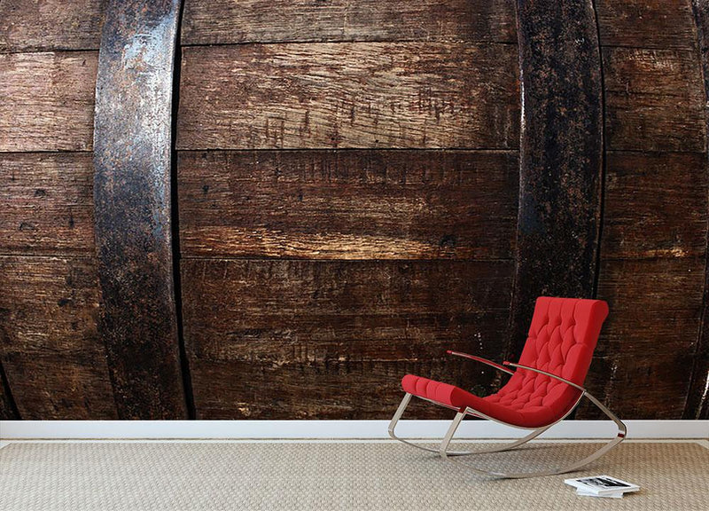 Vintage texture of oak barrel Wall Mural Wallpaper - Canvas Art Rocks - 1